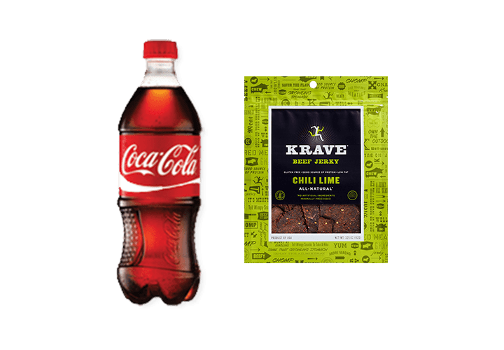 Purchase a Krave Jerky and a Coca-Cola 20oz